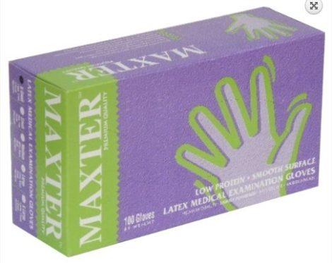 Gumikesztyű Maxter latex, púderes
